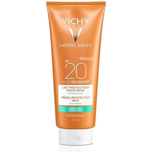 Vichy Sole vichy capital soleil - latte idratante fresco viso e corpo spf20, 300ml