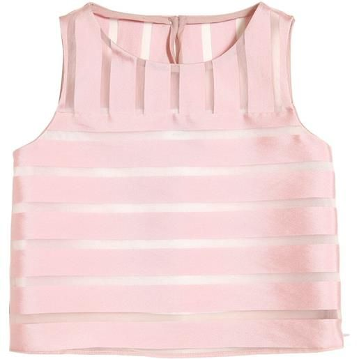 MILLY MINIS top in organza jacquard