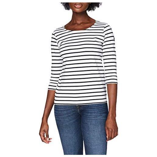 Armor Lux 6225 maglietta a manica lunga, bianco(blanc (bi9 blanc/rich navy), 2xl (taglia produttore: 5) donna