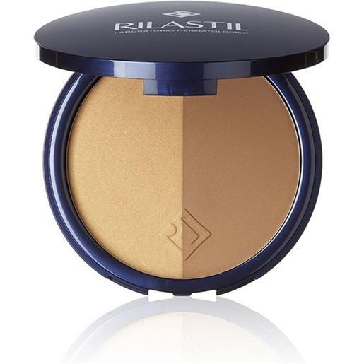 Rilastil maquillage - terra polvere compatta abbronzante bicolore spf15, 18g