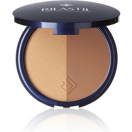 Rilastil maquillage - terra polvere compatta illuminante bicolore spf 15, 18g
