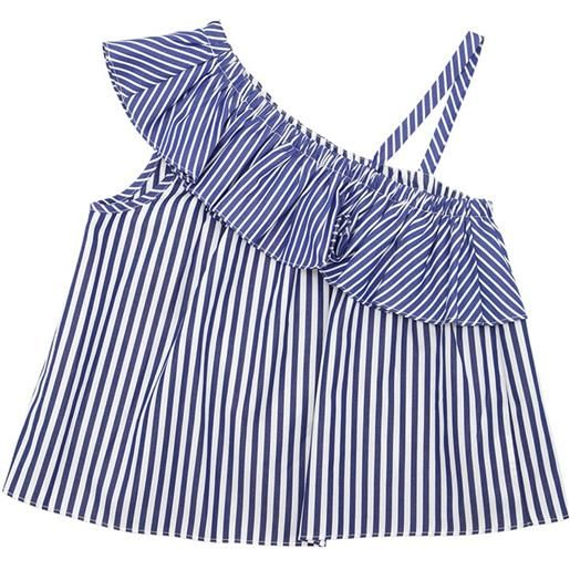 MILLY MINIS top in popeline di cotone