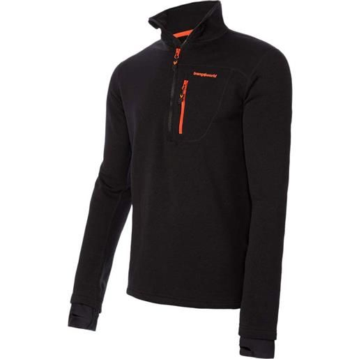 Trangoworld maglietta manica lunga trx2 stretch pro s black / black