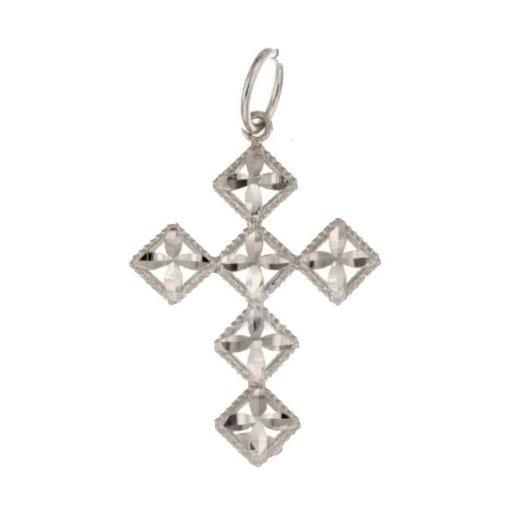 Croce da donna in oro bianco 803321703010