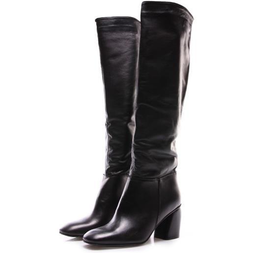POESIE VENEZIANE scarpe donna stivali nappa tacco scultura nero POESIE VENEZIANE