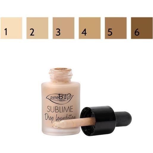 Purobio sublime drop foundation - fondotinta liquido n. 06