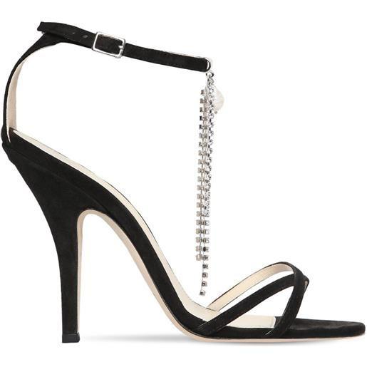 MAGDA BUTRYM sandali ireland in camoscio con cristalli 110mm