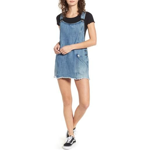 Obey vestito jeans Obey debs overall dress indigo