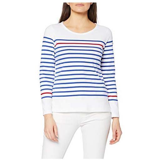 Armor Lux marinière empart femme maglietta a maniche lunghe, bianco (pm8 blanc/etoile/braise pm8), 44 (taglia produttore: 2) donna