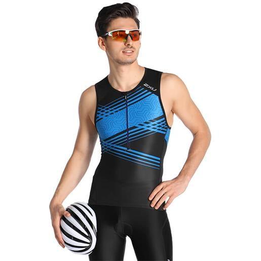2XU perform top triathlon, per uomo, taglia s, maglia triathlon, abbigliamento t