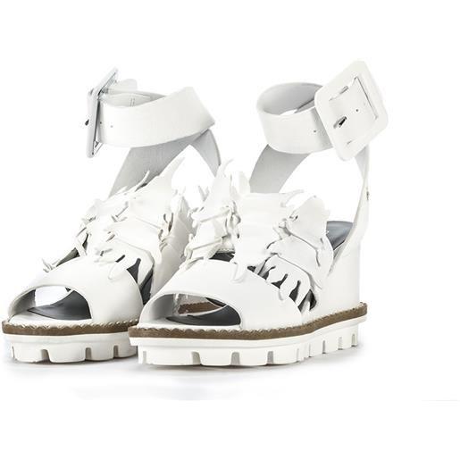 PATRIZIA BONFANTI scarpe donna sandali zeppa pelle bianco PATRIZIA BONFANTI