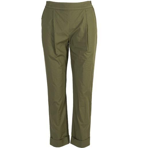 SEMICOUTURE abbigliamento donna pantalone cotone verde militare SEMICOUTURE