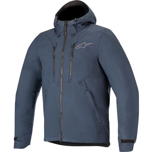 Alpinestars felpa moto Alpinestars domino tech hoodie blu