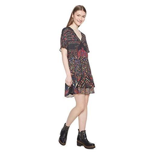 Desigual vest_gina vestito, (negro 2000), 42 (taglia produttore: 36) donna