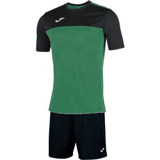 Joma kit winner completo calcio adulto verde/nero