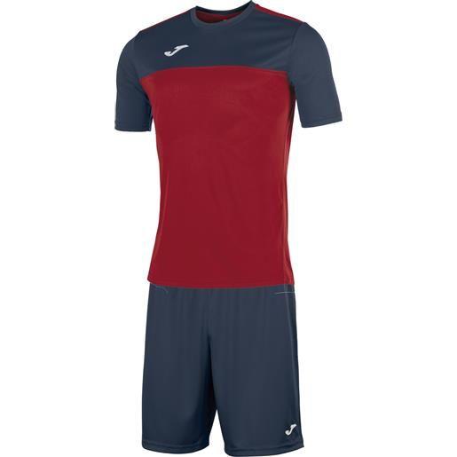 Joma kit winner completo calcio adulto rosso/blu navy