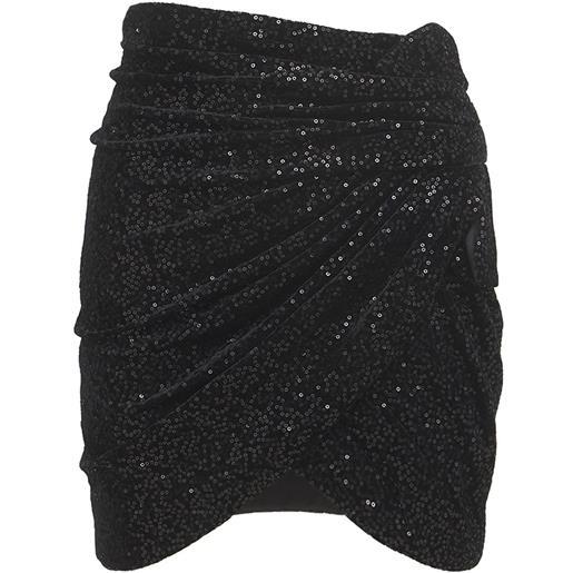 SAINT LAURENT minigonna in velluto con paillettes