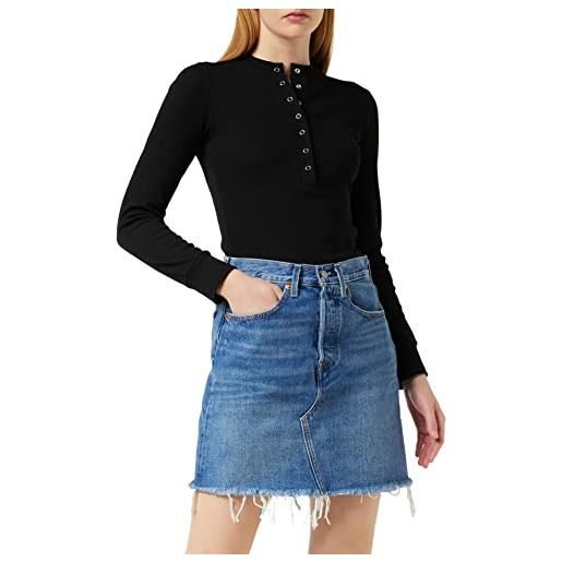 Levi's hr decon iconic bf skirt gonna, meet in the middle, 27 donna