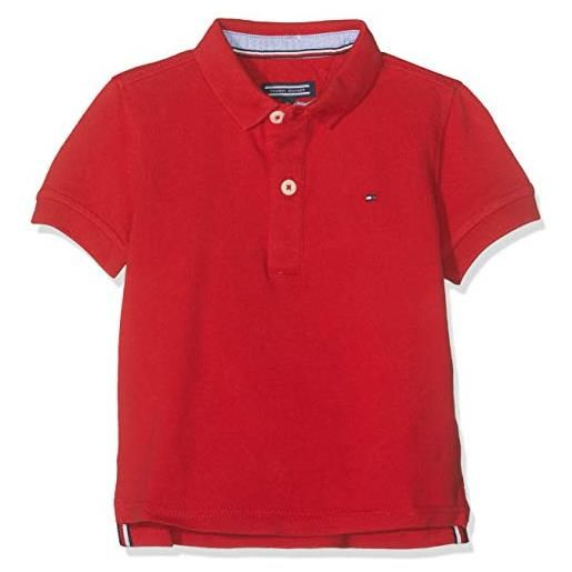Tommy Hilfiger boys tommy polo s/s, rosso (apple red 600), 116 (taglia produttore: 6) bambino