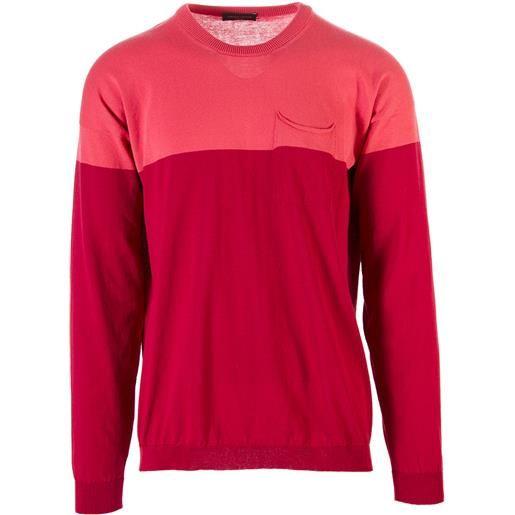 ROBERTO COLLINA abbigliamento uomo maglia cotone finissimo rosso rosa ROBERTO COLLINA