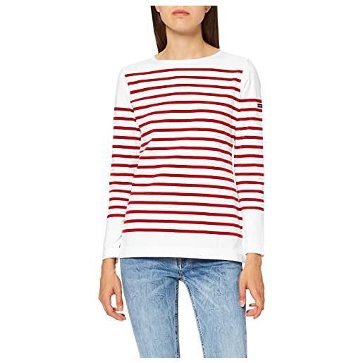 Armor Lux 76838 maglietta a maniche lunghe, multicolore (blanc/etoile dw5), xx-small (taglia produttore: 0) donna