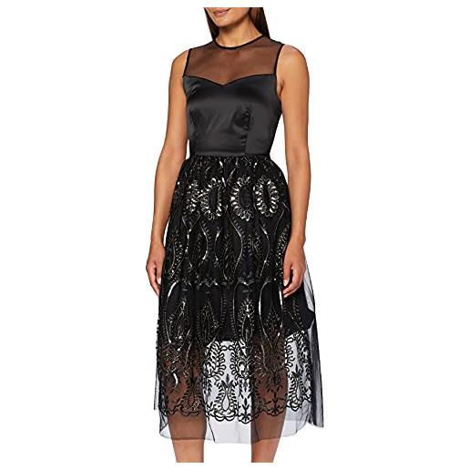 Rinascimento cfc0016750002 vestito, nero (var. Nero var. Nero), medium (taglia produttore: m) donna