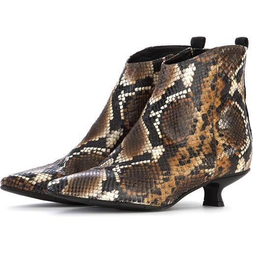 POESIE VENEZIANE scarpe donna stivali pelle multicolor / stampa pitone POESIE VENEZIANE