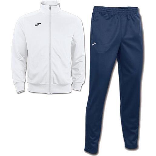 Interlock combi gala 5 joma tuta allenamento training tasche a zip -bianco blu id. Grid: 4773 , code: 100027 100086 color: bianco blu