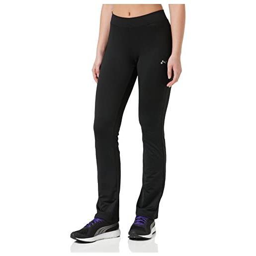 Only onpnicole jazz training pants-opus leggings sportivi, nero (black black), 42 (taglia produttore: small) donna