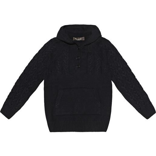 Loro Piana Kids pullover downy cable in cashmere