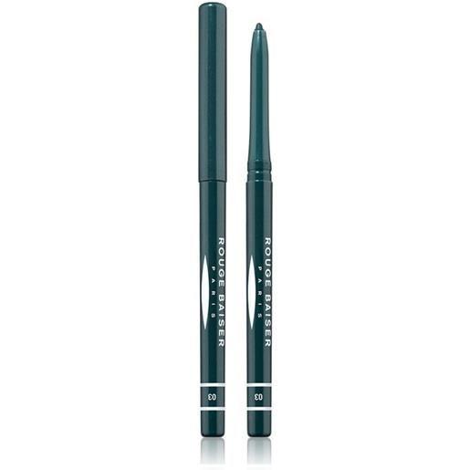 Rouge Baiser 3 vert marin stylo contour des yeux matita occhi 1g