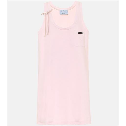 Prada miniabito in jersey di cotone