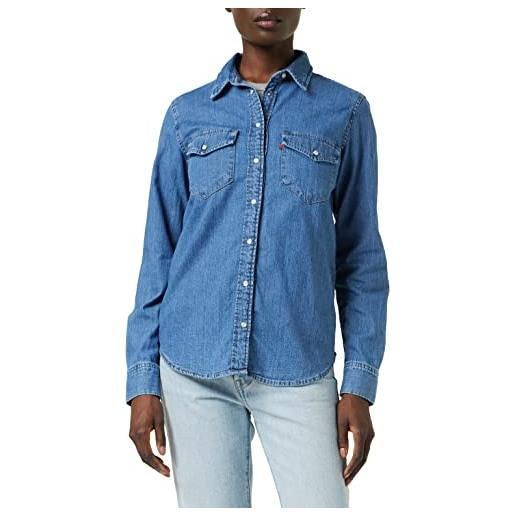 Levi's essential western camicia, blue (cool out (2) 0001), m donna