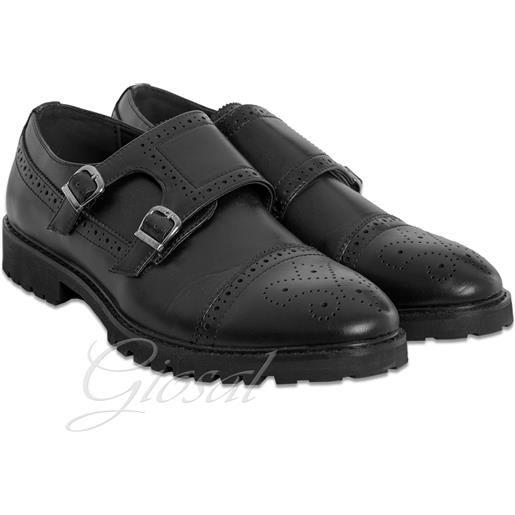 Altri Designer scarpe uomo ecopelle nero modello inglesina tinta unita classiche
