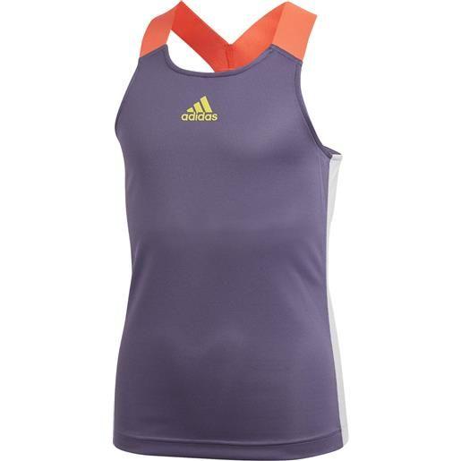 Adidas g y-tank a. Rdy tech purple canotta tennis bambina