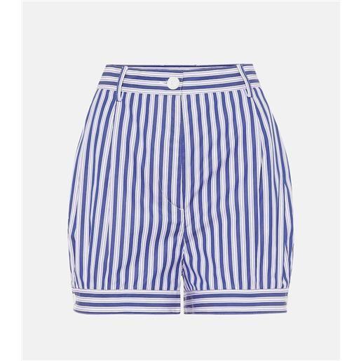 Prada shorts a righe in cotone