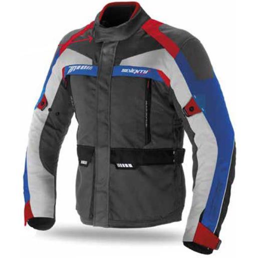 Seventy Degrees giacca sd-jt43 xxxxl dark grey / red / blue
