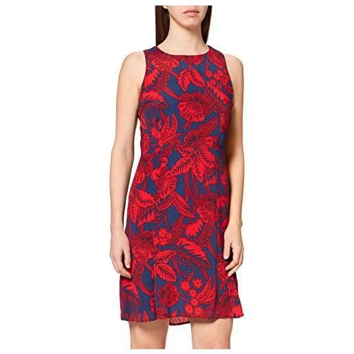 Desigual floral print vestito, rosso/blu, 42 (taglia produttore: 36) donna