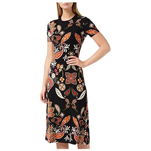 Desigual paisley print vestito midi, multicolore, medium donna