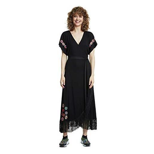 Desigual vest_monterrey vestito, nero (negro 2000), small donna