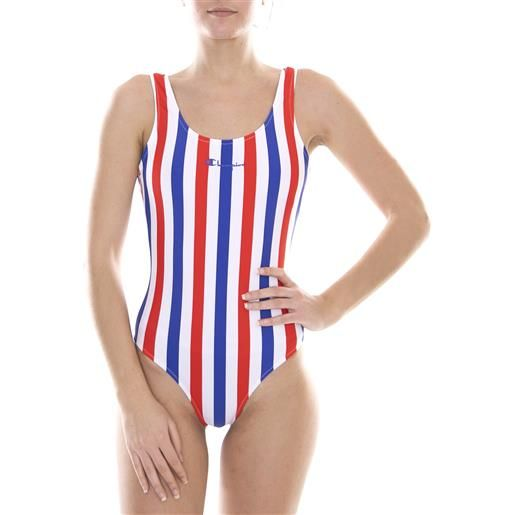 CHAMPION swimming suit white/blue/red