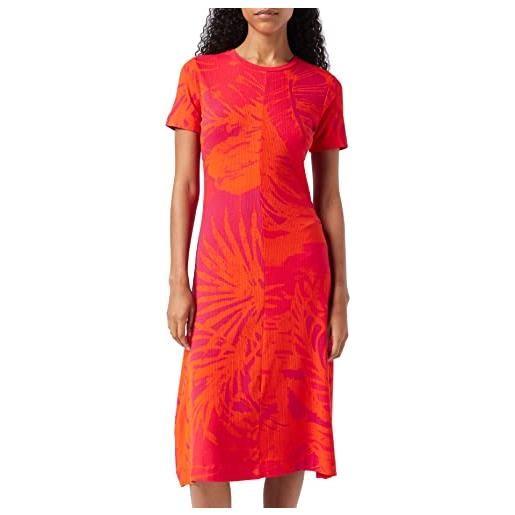 Desigual vest_paradise vestito, rosso (rojo roja 3061), x-small donna