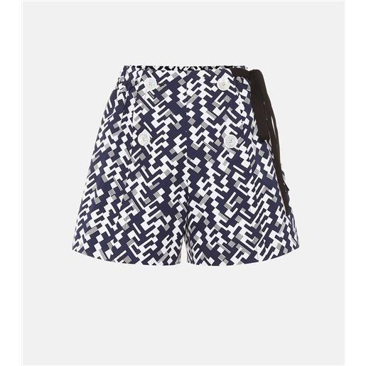 Prada shorts a stampa in cotone
