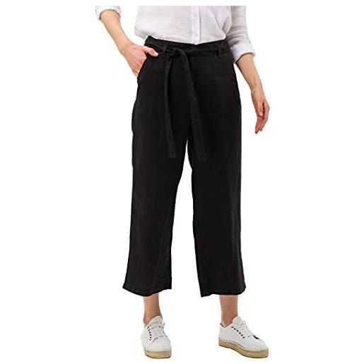 BRAX maine s linen love pantaloni, nero (black 02), w29/l32 (taglia unica: 38) donna