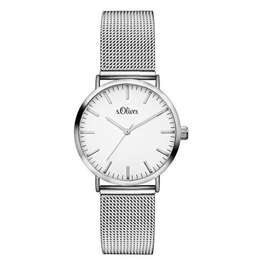 s.Oliver orologio analogueico quarzo donna con cinturino in acciaio inox so-3270-mq