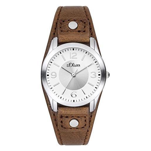 s.Oliver analogico al quarzo orologio da polso so-2946-lq