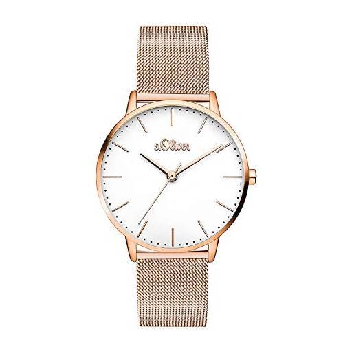 s.Oliver orologio analogico quarzo donna con cinturino in acciaio inox so-3446-mq
