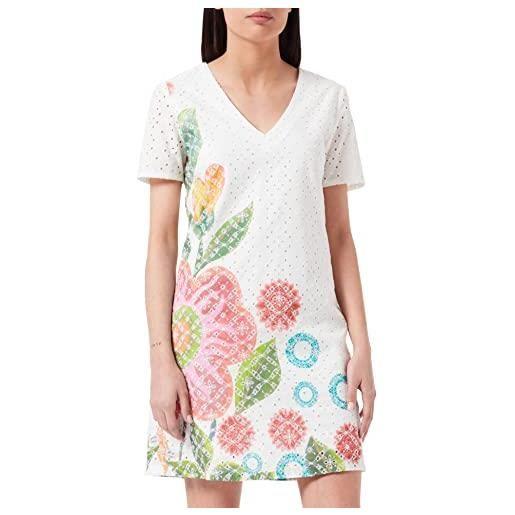 Desigual vest_denis vestito, bianco (blanco 1000), 48 (taglia produttore: 42) donna