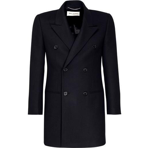 SAINT LAURENT cappotto doppiopetto in lana e cashmere