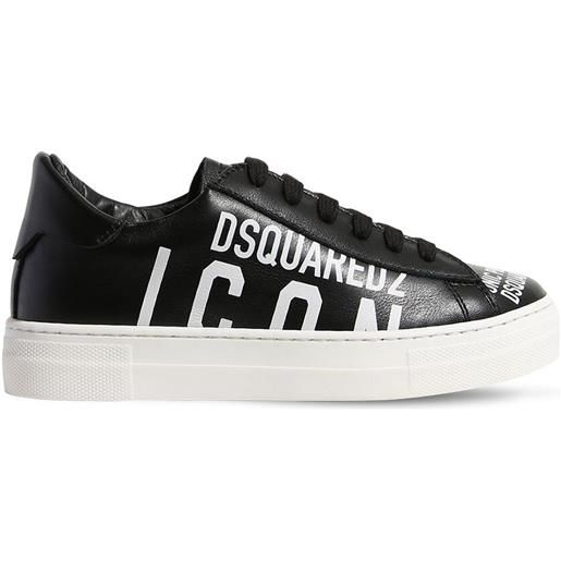 DSQUARED2 sneakers in pelle con stampa